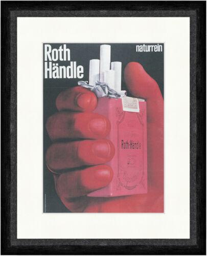 Roth Händle Zigaretten Werbung Marke Tabak Finger Kunstdruck Faks/_Plakatwelt 339