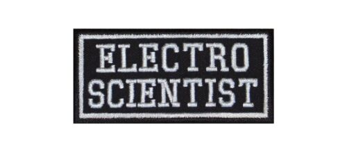Electro Scientist Biker Patch ricamate Music Elektro party musica dub band pop