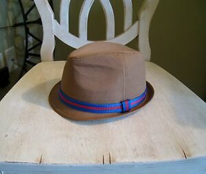 Mens NWTs American Eagle AEO Brown Twill Fedora Bucket Hat s Blue ... 369d7bffe89
