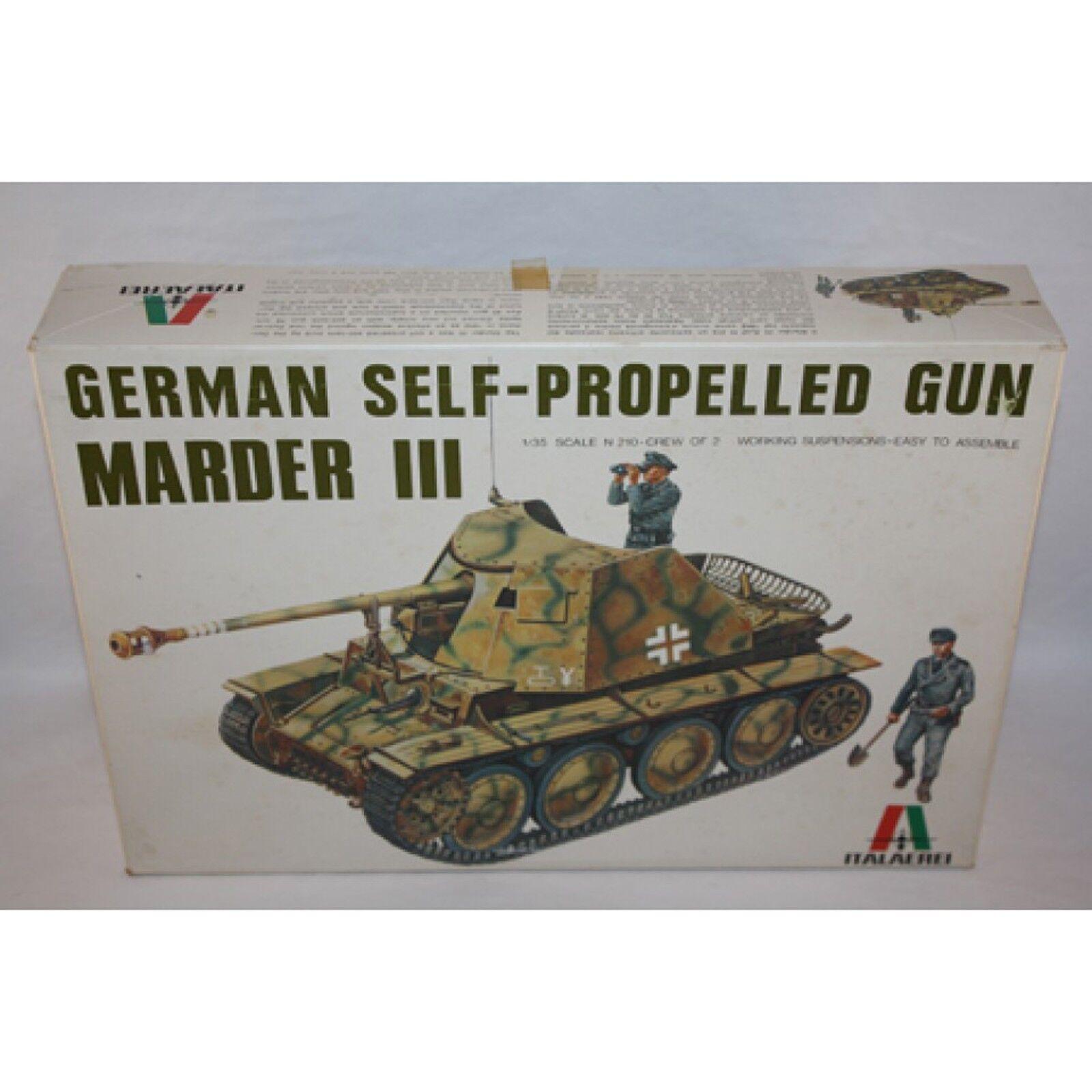 ITALAEREI GERMAN SELF PROPELLED GUN MARDER III PLASTIC MODEL KIT 1 35 SCALE