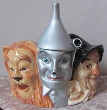 Warner Brother Wizard of Oz 3 Character Cookie Jar - Lion Tinman Scarecrow