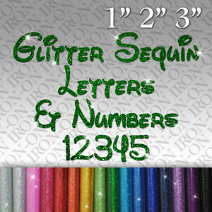 image is loading glitter letters amp numbers iron on fabric transfer