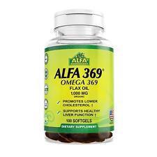 ALFA Vitamins ALFA 3-6-9 1000 MG Nutrition Supplement 200 Count