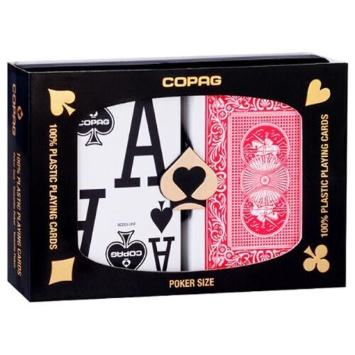 COPAG 100/% PLASTIC POKER PLAYING CARDS DECK DOUBLE JUMBO STANDARD INDEX ORIGINAL