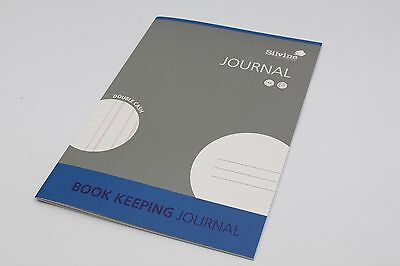 6 x Silvine A4 Book Keeping Journal Double Cash Accounts 32 Pages Blue Pad SJA4J