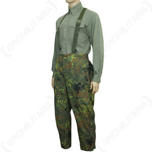 1ee213595ec00 Image is loading Original-Waterproof-Flecktarn-Trousers-Goretex-Genuine- German-Army-