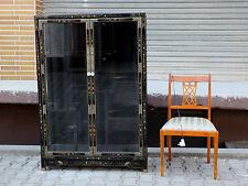 VITRINE ÄLTER ANTIK ? CHINA ? JAPAN ? KOREA ? LACK LACKMÖBEL 145cm black lacquer