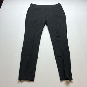 Talbots-Sz-M-Gray-Ponte-Seamed-Pull-On-Skinny-Pants-A1740
