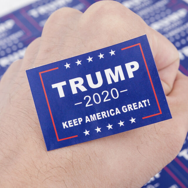 32pcs Donald Trump 2020 President Keep America Great Face Body Stickers Decals