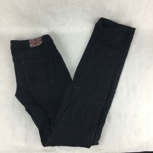 Machine-Womens-Skinny-Jeans-Black-Ripped-Zip-Fly-Low-Rise-Stretch-Denim-Pants-0