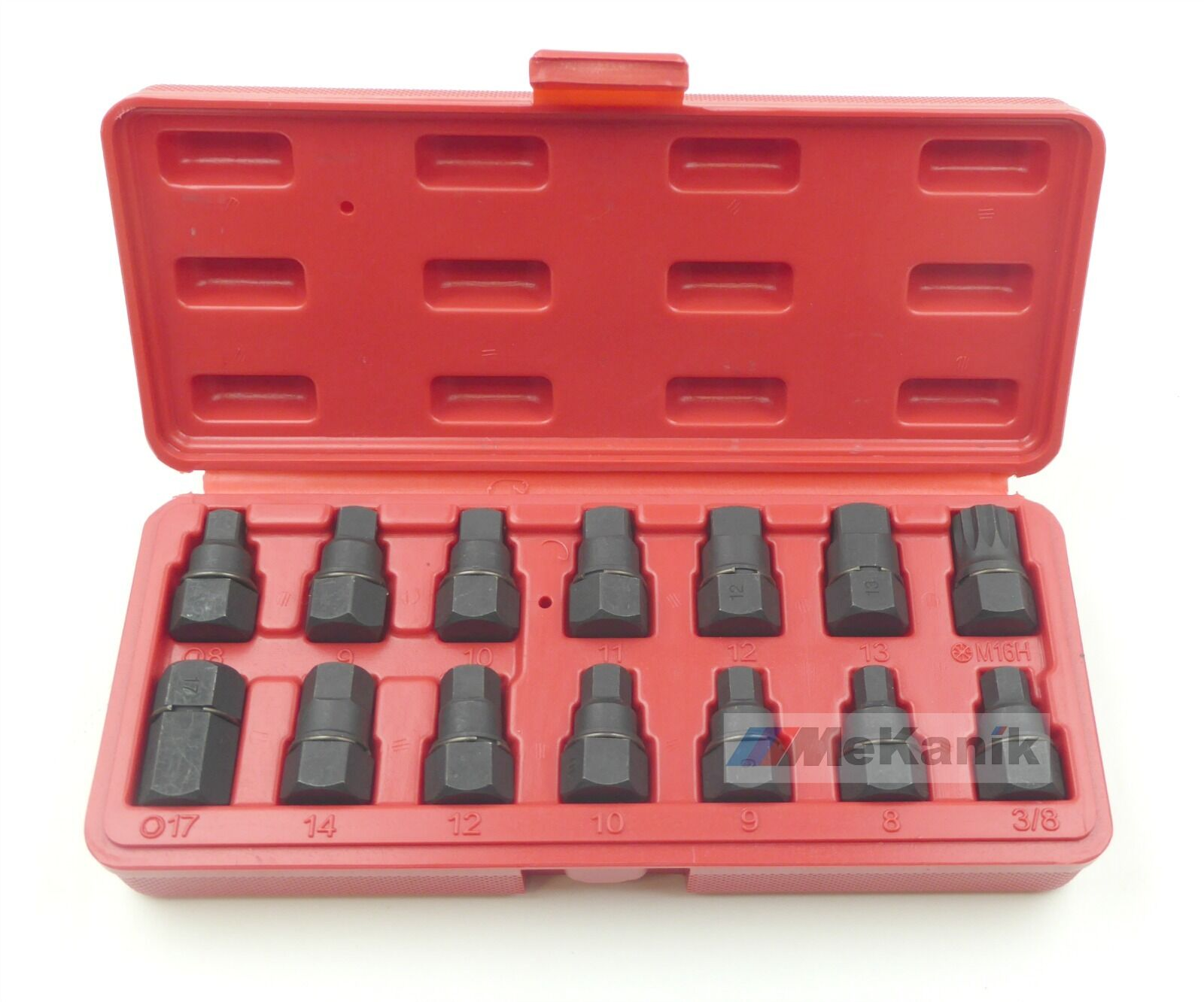14pc Master Oil Drain Plug Key Socket Set Diffs Sumps