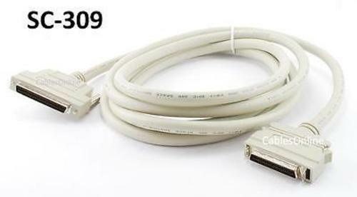 10ft SCSI-3 to SCSI-2 External Male//Male Cable HPDB50 SC-309 HPDB68
