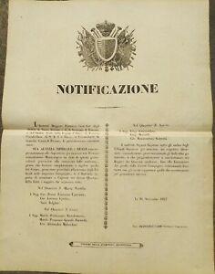 1847-BANDO-FIRENZE-NASCITA-DELLA-GUARDIA-CIVICA-E-CAPITANI-ACQUARTIERAMENTO