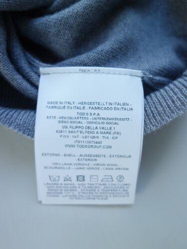 Gr Grau Schurwoll Pullover Hochwertiger Orig Tods 54 100 xIqTF0