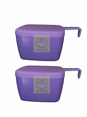 Brand New Tupperware Forget Me Not / Cheese Slice Keeper (set of 2)