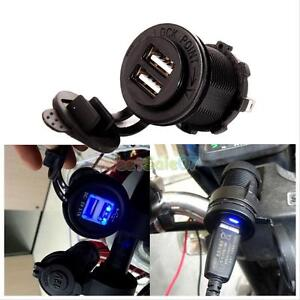 2-1A-12V-Waterproof-Dual-USB-Charger-Socket-Plug-Outlet-Panel-Car-Motorcycle