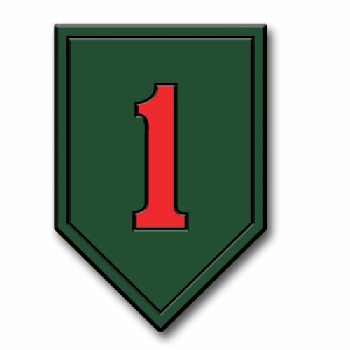 "ARMY 1ST INFANTRY BIG RED 5/"" FRIDGE MAGNET MADE IN USA"