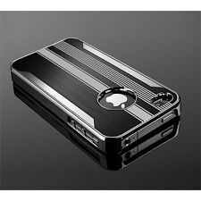 Ultra Slim Steel Chrome Deluxe Cover Case Screen Protector for iPhone 4 4s Pen