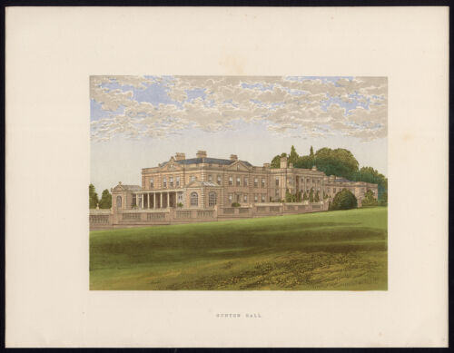 Antique Print-GUNTON HALL-AYLSHAM-NORFOLK-Morris-Fawcett-Lydon-1880
