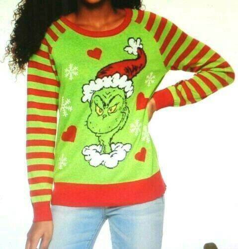 DR SEUSS THE GRINCH CHRISTMAS UGLY SWEATER SIZE XS S M L XL 2X NEW!