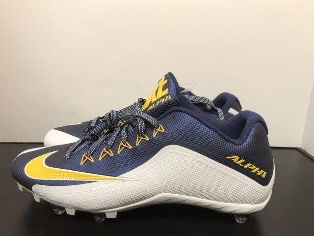 a182de38d55c Nike Alpha Pro Low TD Football Cleats Men s Size 14 White Navy Blue ...