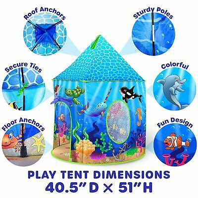 Under The Sea Kids Tent Indoor Playhouse Mermaid Kids Play Tent