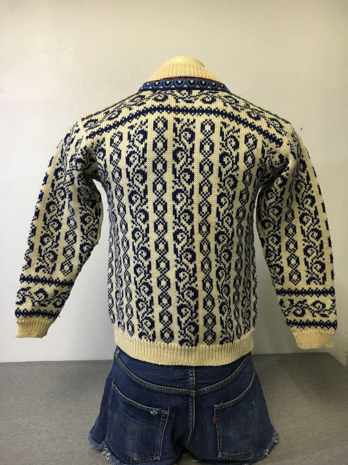DALE OF NORWAY SWEATER SETESDFAL 100% Wool Knit Cardigan Cardigan Cardigan Pewter Clasp Warm Sz 40 c120e4