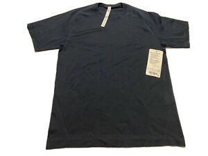 Lululemon-Metal-Vent-Tech-SS-NWT-78-Size-M-NUNY-NUNY-Navy-Blue-Short-Sleeve-Tee