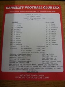 26091985 Barnsley Reserves v Aston Villa Reserves  Single Sheet Folded Ite - Birmingham, United Kingdom - Returns accepted within 30 days after the item is delivered, if goods not as described. Buyer assumes responibilty for return proof of postage and costs. Most purchases from business sellers are protected by the Consumer Contr - Birmingham, United Kingdom