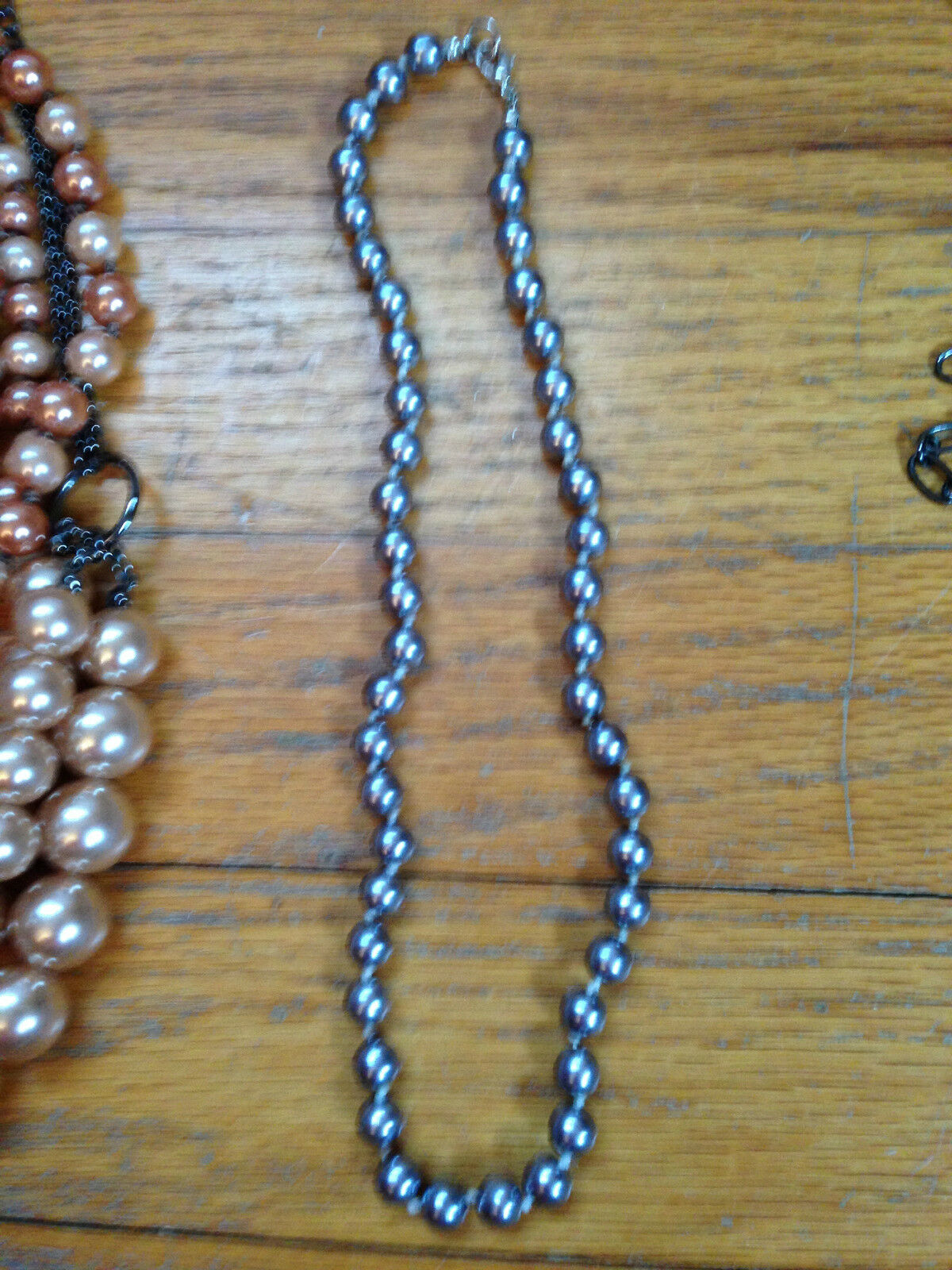 Costume Jewelry Lot Mixture of necklaces, and bra… - image 3