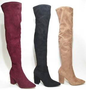 0006a8b40ea Steve Madden Rational Over the Knee Thigh High Heel Boots Tan ...