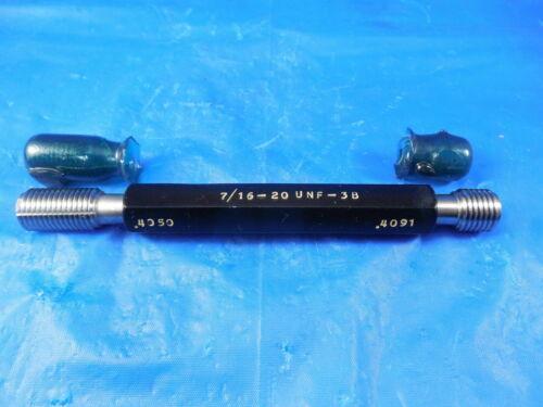 7//16 20 UNF 3B THREAD PLUG GAGE .4375 GO NO GO PD/'S= .4050 /& .4091 NF-3B