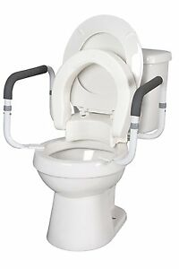 Prime Details About Hinged Toilet Seat Riser W Removable Padded Toilet Safety Frames Arms Bralicious Painted Fabric Chair Ideas Braliciousco