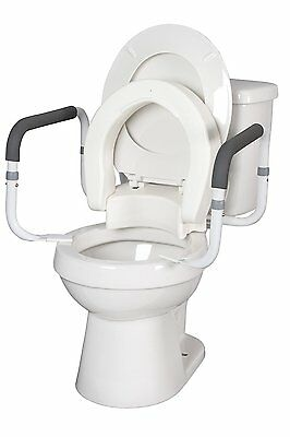 Toilet Seat Riser With Arms.Hinged Toilet Seat Riser W Removable Padded Toilet Safety Frames Arms Ebay