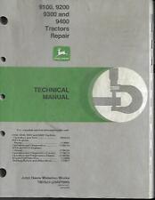 John Deere 9100 9200 9300 And 9400 Tractors Repair Technical Manual
