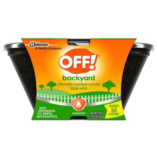 6-Pack OFF Backyard Citronella Scented Triple-wick ...