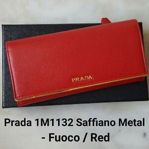 2633ac7ddece Brand New with tags Authentic PRADA 1M1132 Saffiano Metal - Fuoco ...
