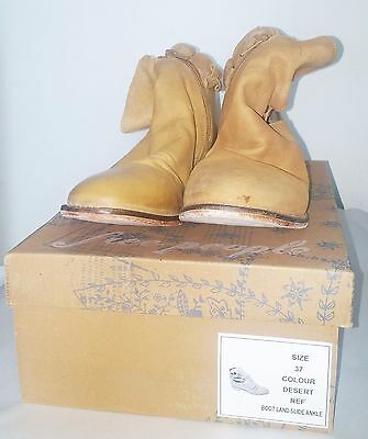 FREE PEOPLE Distressed Tan Leather Landslide Ankle Boots Size 6.5 (37)
