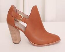 ELIZABETH & JAMES Womens Brown Leather Cut Out SURI Ankle Bootie Boot Shoe 8.5