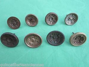 1 Bouton Tiroir Meuble Commode Empire Charles X Ancien Bronze D. 4,5 à 5,2 Cm
