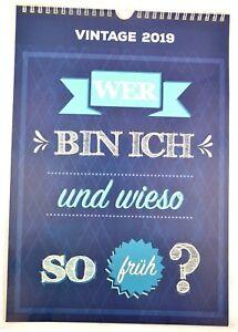 Vintage Kalender 2019 Zum Aufhangen Wandkalender Spruche Lustig 23