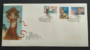 1990 Australia Bush Nativity Christmas --- Koala Kangaroo 3v Stamps FDC