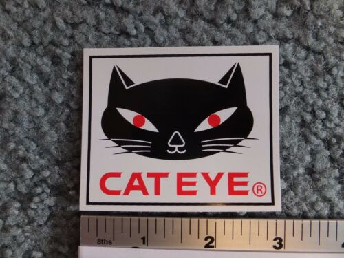 "3/""  CATEYE Cat Eye Bike Mountain Road Tri Fat Bicycle Ride STICKER DECAL"