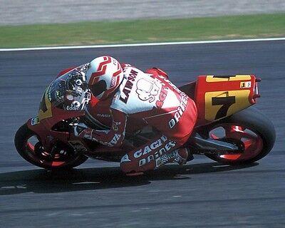 Eddie Lawson American Four Time GP Motorcycle World Champion Honda Poster