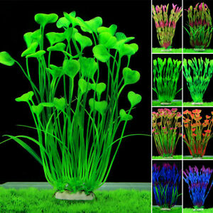 Grass aquarium decoration water weed ornament plastic for Green water in fish tank
