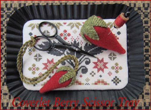 Coverlet Berry Scissor Tray Scarlett House Cross Stitch Pattern
