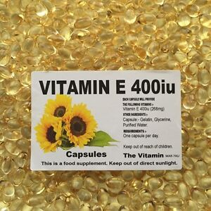 The Vitamin Vitamin E 400iu (268mg) 365 Capsules - Bagged