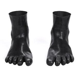 66818312fed Details about Red/Black Latex Rubber Toe Socks Gummi 0.4mm Unisex Hosiery  ToeSocks Size M