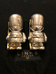 Links of London Pair of Queensguards sterling silver salt and pepper