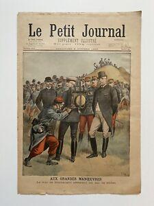 Supplement-Illustre-Le-Petit-Journal-2-10-1898-N-411-AUX-GRANDES-MANOEUVRES